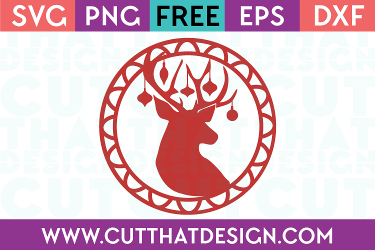 Free SVG Files Christmas Deer Head Gift Tag