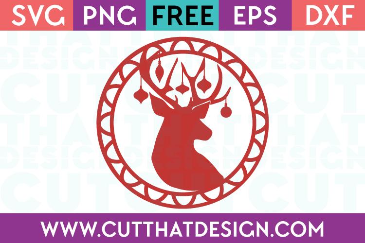 Free SVG Files Christmas Deer Head Gift Tag