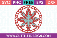 Free Cutting Files Christmas Snowflake Gift Tag