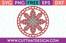 Free Cutting Files Christmas Snowflake Gift Tag