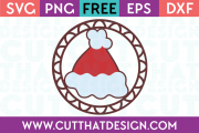 Free SVG Files Santa Hat Gift Tag Decoration