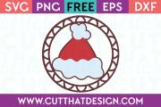 Free SVG Files Santa Hat Gift Tag Decoration