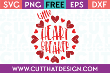 Free SVG Files Valentines Little Heart Breaker