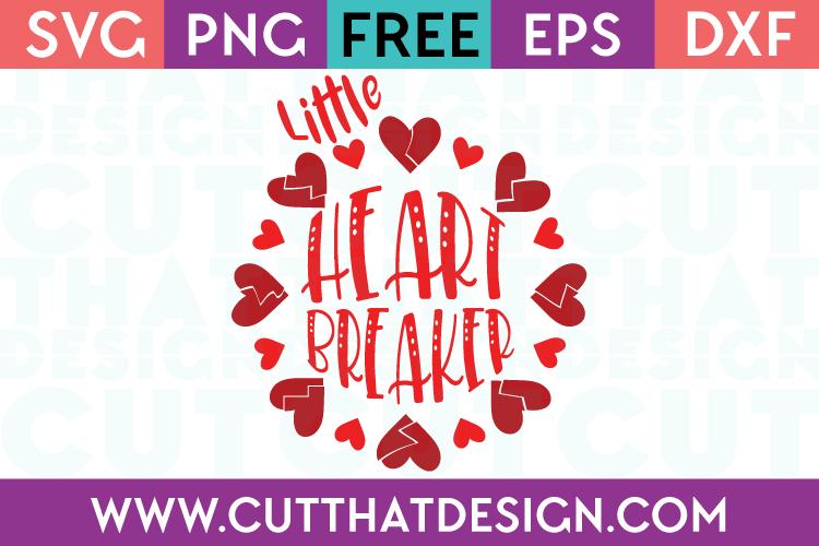 Free SVG Files Valentines Little Heart Breaker