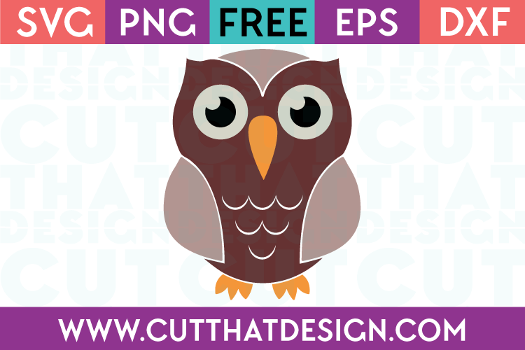Free SVG Cut File Owl Design