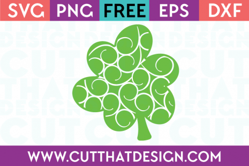 Free Cut Files Flourish Shamrock Design 2