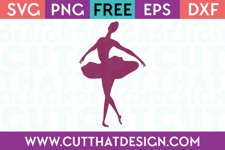 Free SVG File Ballerina Silhoutte Design
