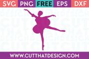 Free SVG File Ballerina Silhouette 2