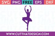 Free SVG Ballerina Design 3