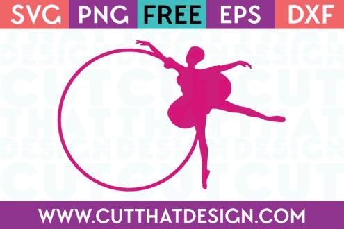 SVG Ballerina Monogram Frame 1