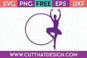 Free Ballerina Cut File Frames