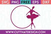 SVG Free Ballerina Frame 3