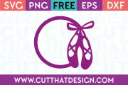 Free Cut Files Ballet Shoes Monogram Frame