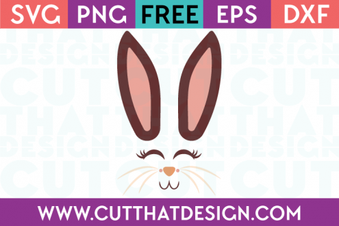 Free Cut File Bunny Face SVG Design