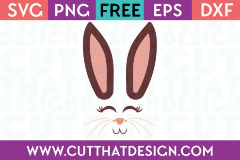 Free Cut File Bunny Face SVG Design