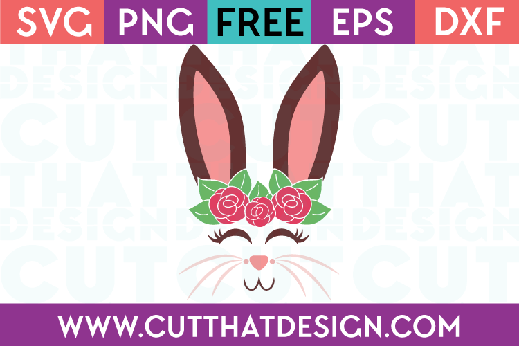 Free Bunny Face SVG Cut File