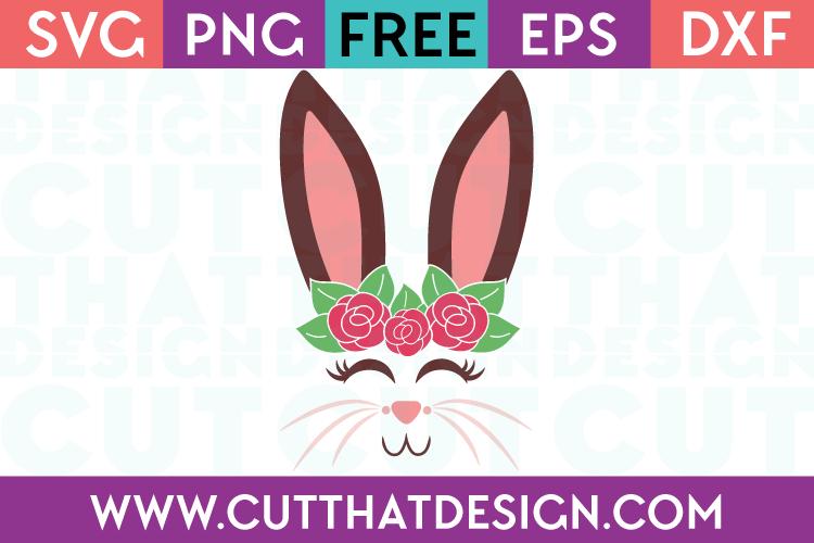 Free Bunny Face SVG Cut File
