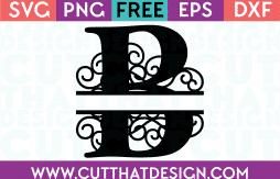 Free SVG Cut File Alphabet Letter B