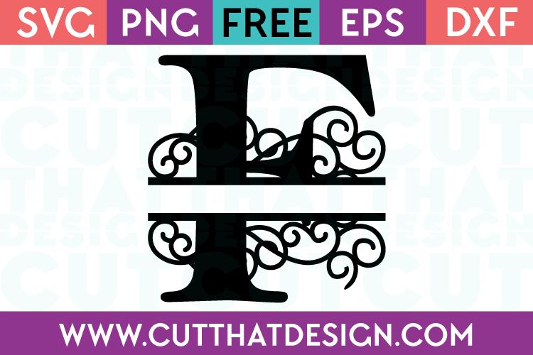 Free SVG Cut Files Alphabet Letter F