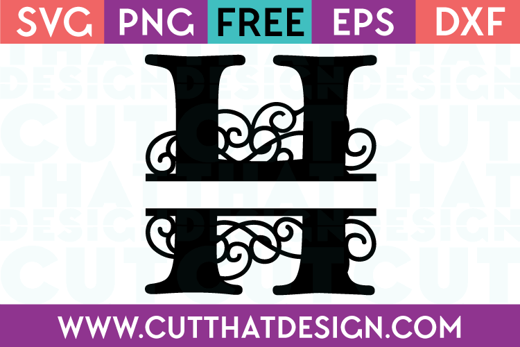 Free SVG Cut Files Alphabet Letter H
