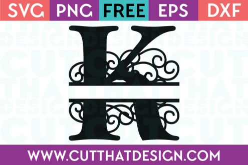Free SVG Cut Files Alphabet Letter K