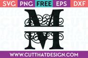 Free SVG Cut Files Alphabet Letter M