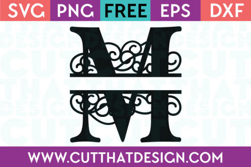 Free SVG Cut Files Alphabet Letter M