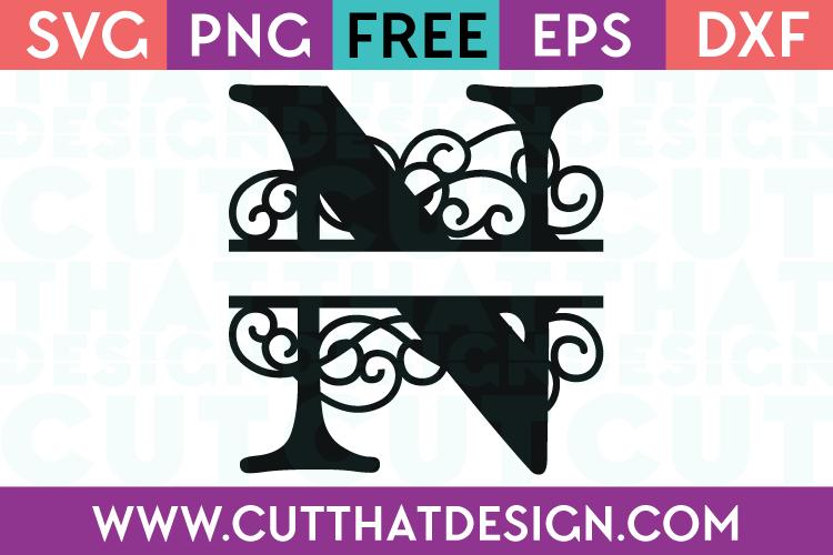 Free SVG Cut Files Alphabet Letter N