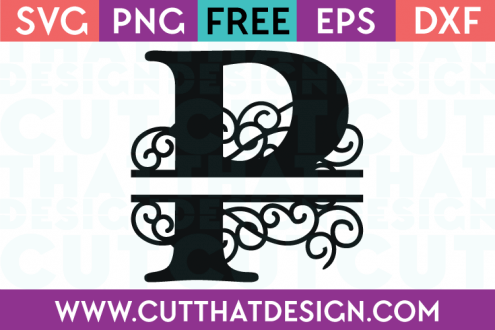 Free SVG Cut Files Alphabet Letter P