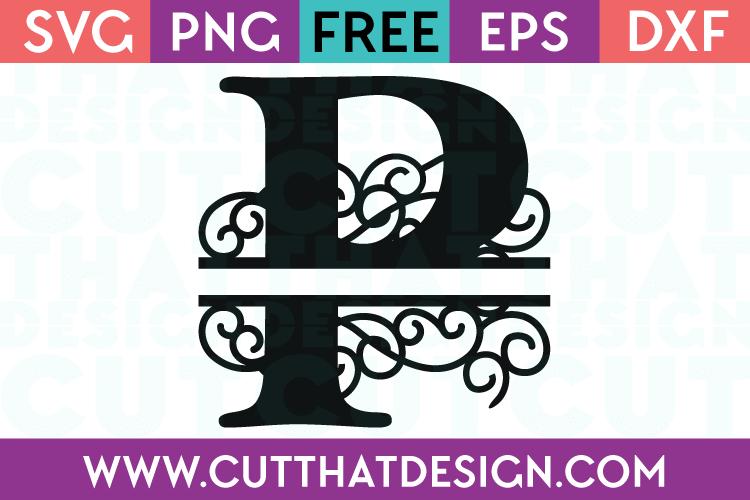 Free SVG Cut Files Alphabet Letter P