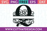 Free SVG Cut Files Alphabet Letter Q