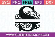 Free SVG Cut Files Alphabet Letter S
