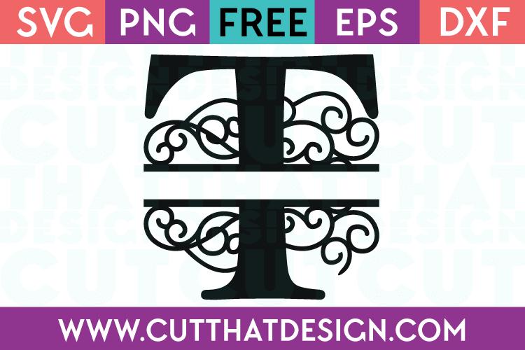 Free SVG Cut Files Alphabet Letter T