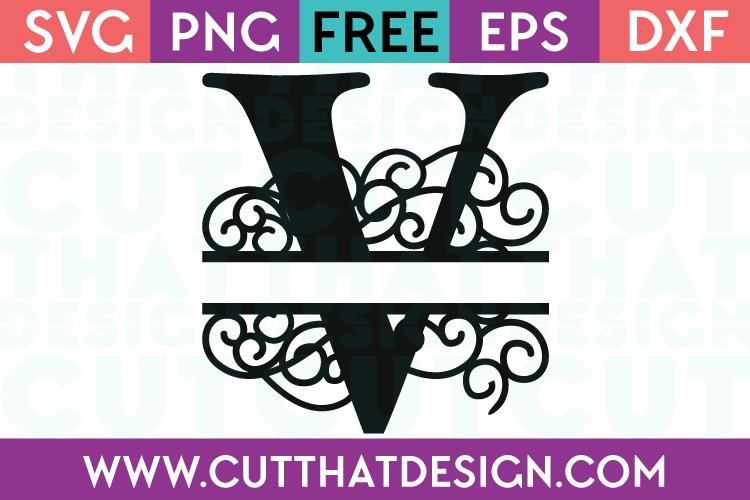 Free SVG Cut Files Alphabet Letter V