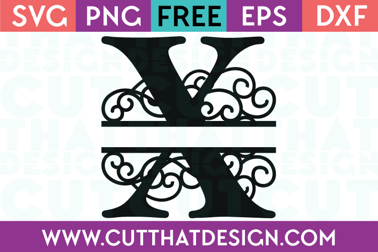 Free SVG Cut Files Alphabet Letter X
