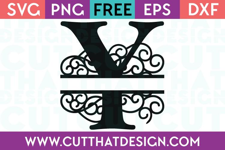 Free SVG Cut Files Alphabet Letter Y