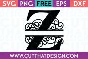 Free SVG Cut Files Alphabet Letter Z