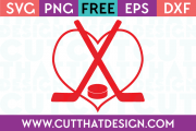 Free SVG Cut Files Sports Hockey