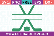 Free SVG Hockey Stick Cut File