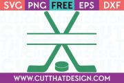 Free SVG Hockey Stick Cut File