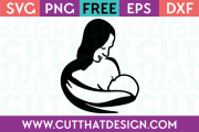 Free Cut Files Baby Breast Feeding