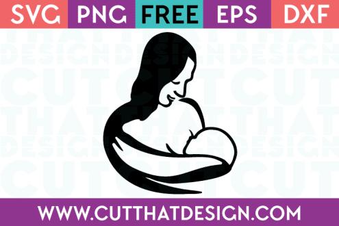 Free Cut Files Baby Breast Feeding
