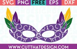 Free SVG Madi Gras Mask