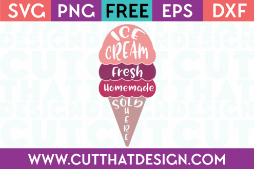 Free SVG Files Ice Cream Design