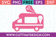 Ice Cream Truck SVG Free Cut File