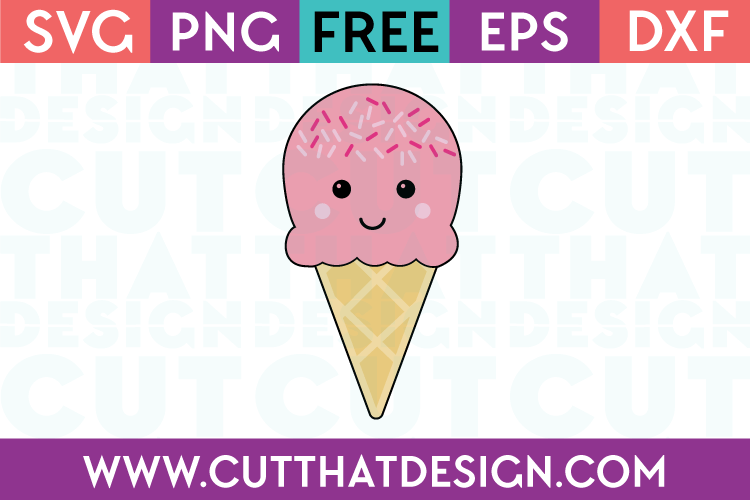 SVG Cut Files Happy Ice Cream