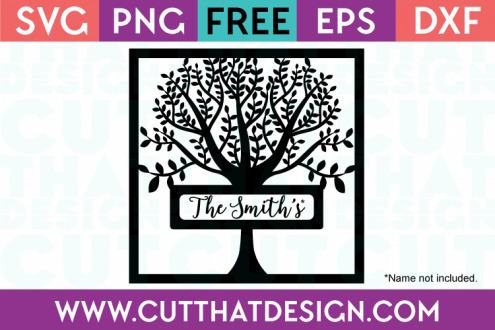 Free Family Tree Frame SVG Cut File