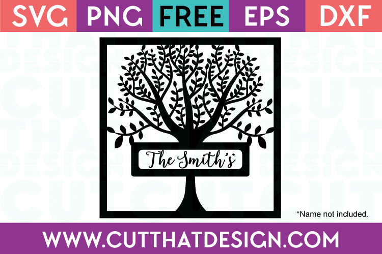 Free Svg Files Free Family Tree Frame Svg Cut That Design
