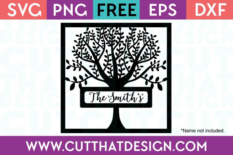 Free Family Tree Frame SVG Cut File