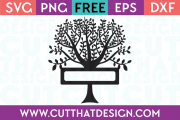 Free SVG Cutting Files Tree Design